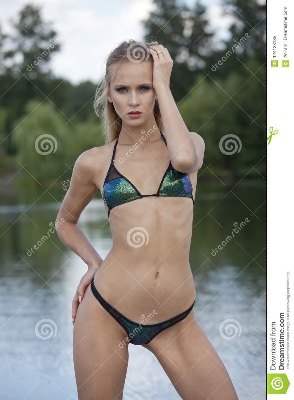 amateur woman Outdoor bikini
